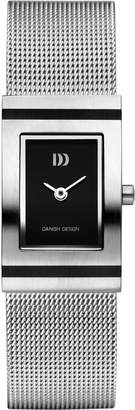 Danish Design Women's Quartz Watch with Black Dial Analogue Display and Silver Stainless Steel Strap DZ120020