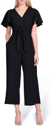 Tahari Short Sleeve Crepe Jumpsuit