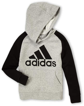 adidas Boys 8-20) Raglan Embroidery Logo Long Sleeve Hoodie
