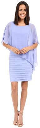 Adrianna Papell Chiffon Drape Overlay With Banding Women's Dress