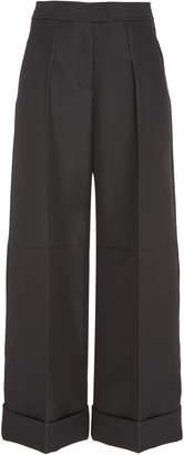 Zac Posen Gauffre Cuffed Twill Dress Pants