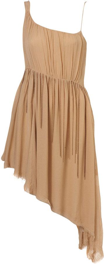 Chiffon Chain Waist Midi Dress