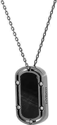 Damiani 18K Rhodium Plated 0.30 Ct. Tw. Diamond Dog-Tag Necklace