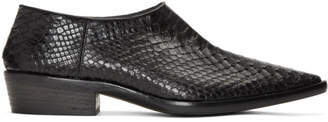 Haider Ackermann Black Python Visconti Loafers
