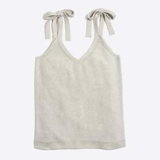 J.Crew Factory Tie-shoulder sweater tank top