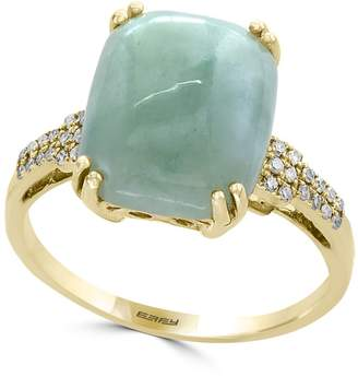 Effy 14K Yellow Gold Jade and Diamond Ring