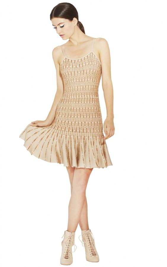 Alice + Olivia Fern Novelty Knit Slip Dress