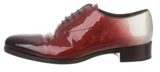 Prada Patent Leather Lace-Up Oxfords Patent Leather Lace-Up Oxfords
