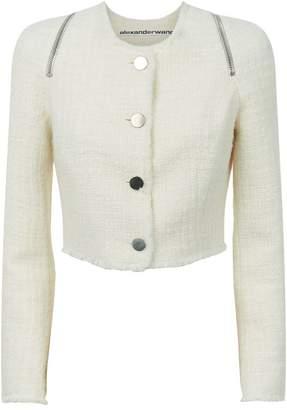 Alexander Wang Zip Detail Tweed Jacket