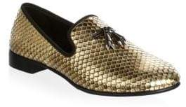 Giuseppe Zanotti Metallic Scale Loafers