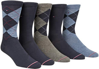 Tommy Hilfiger Men 5-Pk. Argyle Crew Socks