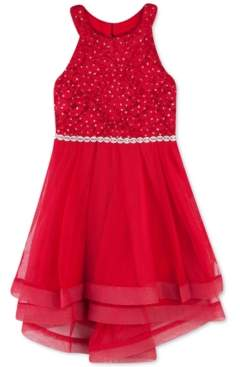 Speechless Toddler Girls Lace Crinoline-Trim Dress