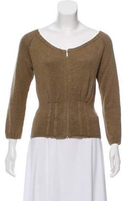 Max Mara Weekend Crop Off-The-Shoulder Sweater