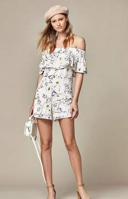Lucca Couture Tessa Off-The-Shoulder Ruffle Romper