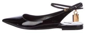 Tom Ford Patent Leather Pad-Lock Flats