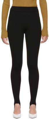 Victoria Beckham Black Stirrup Leggings