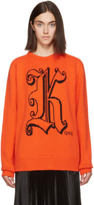 Christopher Kane Orange Wool Kane Sweater