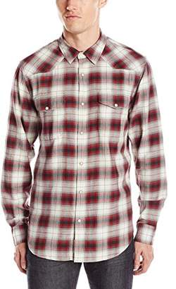 Lucky Brand Men's Santa Fe Western Shirt in Red Ombre