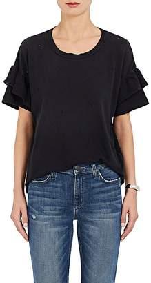Current/Elliott Women's The Ruffle Roadie Cotton T-Shirt