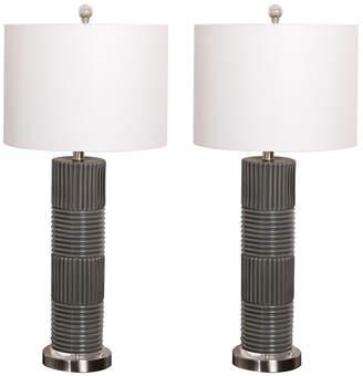 Abbyson Living Kana Glass Table Lamp, Set of 2
