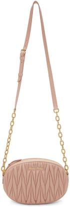 Miu Miu Pink Quilted Bandoleer Bag