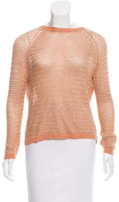 Mason Metallic Crossover Sweater