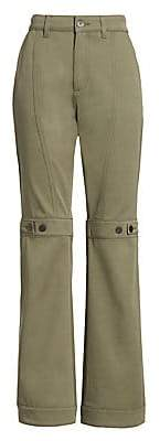 Loewe Women's Button Detail Flared Trousers