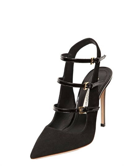 Gianmarco Lorenzi 110mm Suede Belted Pumps