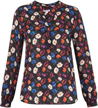 Whistles Pansy Print Silk Blouse