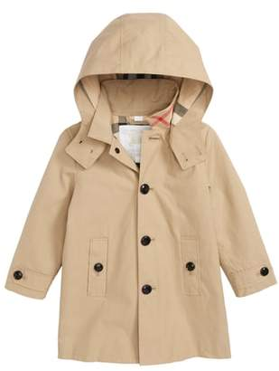 Burberry Bradley Hooded Trench Coat