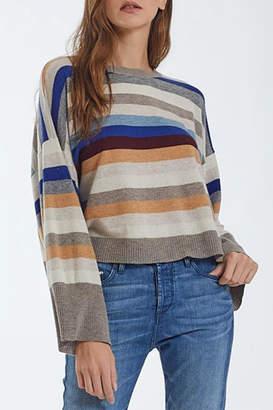 Autumn Cashmere Multi-Stripe Cashmere Crew