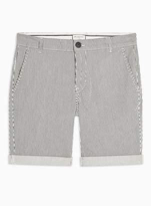 Selected Mens Grey 'Paris' Stripe Shorts