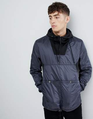 Pretty Green overhead windbreaker in black