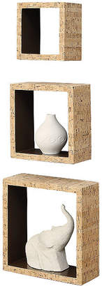 NEU HOME Neu Home Cork Inspired Wall Cube Shelving, Set of 3