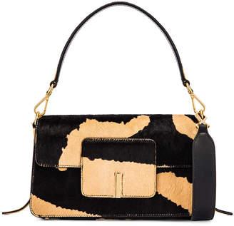 Wandler Georgia Leather Bag in Beige Zebra   FWRD