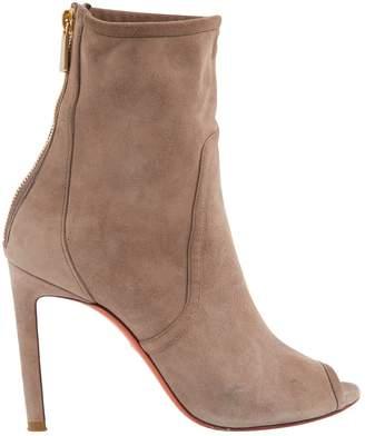 Santoni Brown Suede Boots