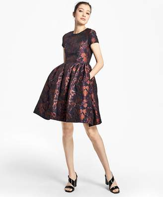 Floral Jacquard Fit-and-Flare Dress $598 thestylecure.com