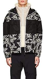 Moncler MEN'S THIOU TROPICAL-PRINT HOODED ANORAK - WHT.&BLK. SIZE 4