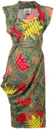 Vivienne Westwood floral patchwork shift dress