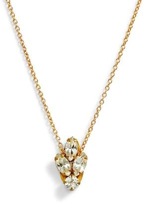 SANDY HYUN Mini Crystal Necklace