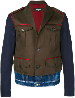 DSQUARED2 contrast fitted jacket