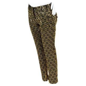 Balmain Metallic Polyester Trousers