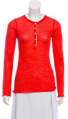 Roberto Collina Long Sleeve Button-Up Top