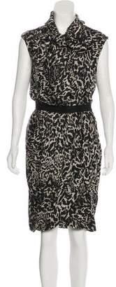 Giambattista Valli Silk Animal Print Dress