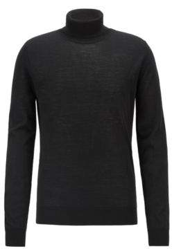 BOSS Hugo Dip-dyed turtleneck sweater in virgin wool silk M Black