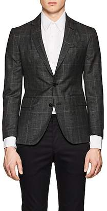 Brooklyn Tailors BROOKLYN TAILORS MEN'S BKT50 CHECKED WOOL TWO-BUTTON SPORTCOAT SIZE 3