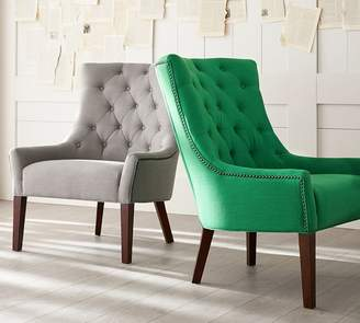 Pottery Barn Hayes Tufted Upholstered Armchair