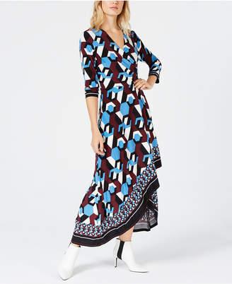INC International Concepts I.n.c. Asymmetrical-Hem Wrap Dress