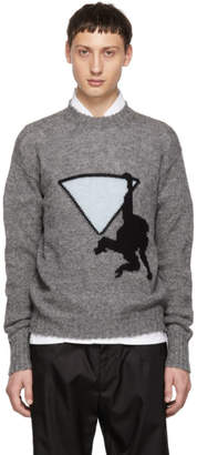 Prada Grey Hanging Monkey Sweater