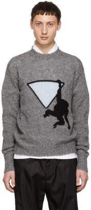 Prada Grey Hanging Monkey Sweater